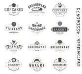 bakery shop logos templates set.... | Shutterstock .eps vector #422060971