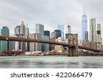 manhattan skyline and brooklyn... | Shutterstock . vector #422066479