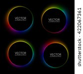 set of colorful glowing blurry... | Shutterstock .eps vector #422067361