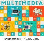 flat vector concept banners.... | Shutterstock .eps vector #422072587