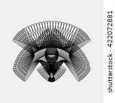 black abstract fractal shape... | Shutterstock .eps vector #422072881