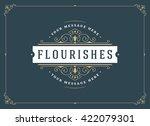 vintage ornament greeting card... | Shutterstock .eps vector #422079301