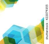 abstract hexagon geometric... | Shutterstock .eps vector #422079355