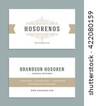 vintage ornament business card... | Shutterstock .eps vector #422080159