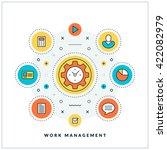 work management. vector thin... | Shutterstock .eps vector #422082979