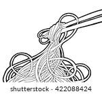 chinese noodles and chopsticks  ... | Shutterstock .eps vector #422088424