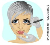 guide lines for surgical... | Shutterstock .eps vector #422088571