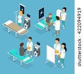 flat 3d isometric medical... | Shutterstock .eps vector #422094919