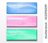 set of three horizontal... | Shutterstock .eps vector #422096059