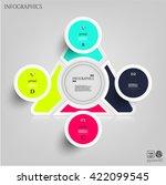 modern infographic  set  group  ... | Shutterstock .eps vector #422099545