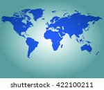 image of a world map with a... | Shutterstock . vector #422100211