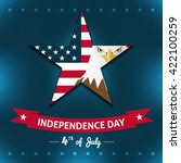 independence day card | Shutterstock .eps vector #422100259