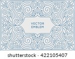 vector poster design template... | Shutterstock .eps vector #422105407