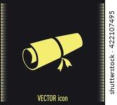 manuscript vector icon  | Shutterstock .eps vector #422107495