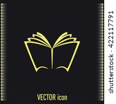 vector book icon | Shutterstock .eps vector #422117791