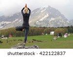 Yoga Woman Doing Tree Pose....
