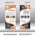 orange roll up banner stand... | Shutterstock .eps vector #422126674