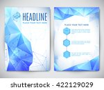 flyer geometric design   Shutterstock .eps vector #422129029