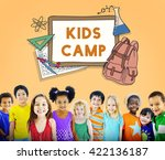 learn kids camp student... | Shutterstock . vector #422136187