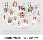social network concept with... | Shutterstock .eps vector #422136499