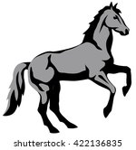 graphic illustration of a horse ... | Shutterstock .eps vector #422136835