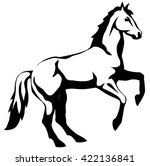 graphic illustration of a horse ... | Shutterstock .eps vector #422136841