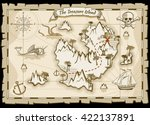 treasure pirate hand drawn... | Shutterstock .eps vector #422137891