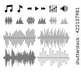 equalizer  music  sound waves... | Shutterstock .eps vector #422137981