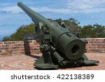 a cannon situated to defend a... | Shutterstock . vector #422138389