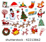 set of christmas ornaments   Shutterstock .eps vector #42213862