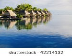 amazing tropical resort with...   Shutterstock . vector #42214132