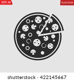pizza icon.vector illustration   Shutterstock .eps vector #422145667
