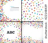 abstract colorful alphabet... | Shutterstock .eps vector #422148439