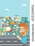 social media applications. | Shutterstock .eps vector #422154901