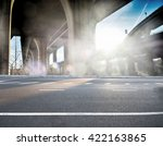 concrete road curve of viaduct... | Shutterstock . vector #422163865