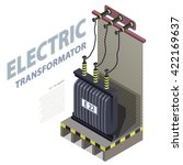 electric transformer isometric... | Shutterstock .eps vector #422169637