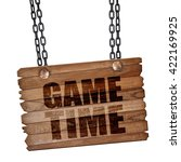 game time  3d rendering  wooden ...