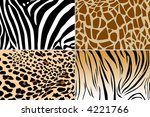 four different animal skin... | Shutterstock . vector #4221766