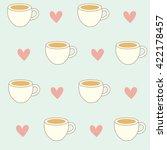Coffee Seamless Background...