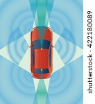 remote sensing system of...   Shutterstock .eps vector #422180089