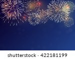 brightly colorful fireworks on... | Shutterstock .eps vector #422181199