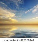 beautiful seascape background.... | Shutterstock . vector #422183461