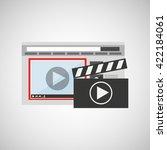 media player  design  | Shutterstock .eps vector #422184061