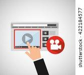 media player  design  | Shutterstock .eps vector #422184577