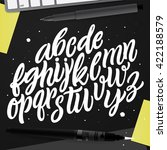 hand drawn lettering and... | Shutterstock .eps vector #422188579