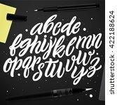 vector set with hand written... | Shutterstock .eps vector #422188624