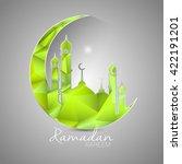 ramadan kareem greeting card... | Shutterstock .eps vector #422191201