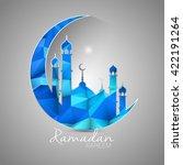 ramadan kareem greeting card... | Shutterstock .eps vector #422191264