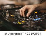 hand detail of a dj using the... | Shutterstock . vector #422193934