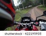 Biker  Motorcycle Rides Along...